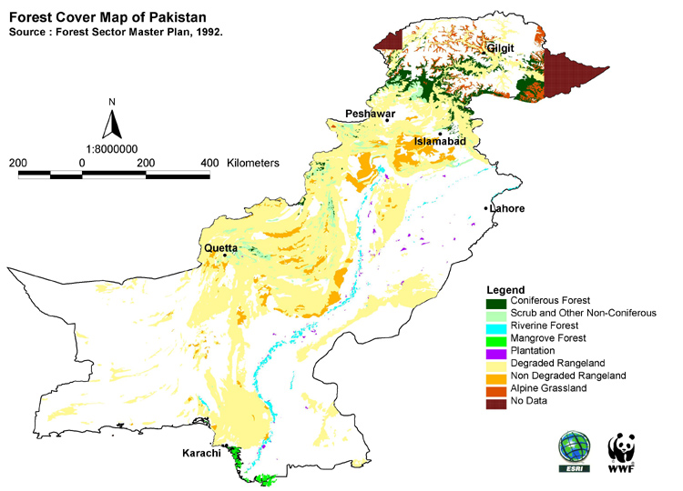 IForest Types of Pakistan With Respect to Soil Conservation - Forestrypedia